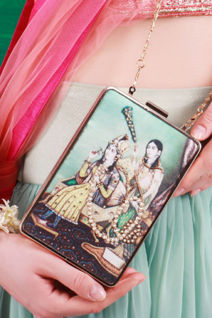 woman clutches